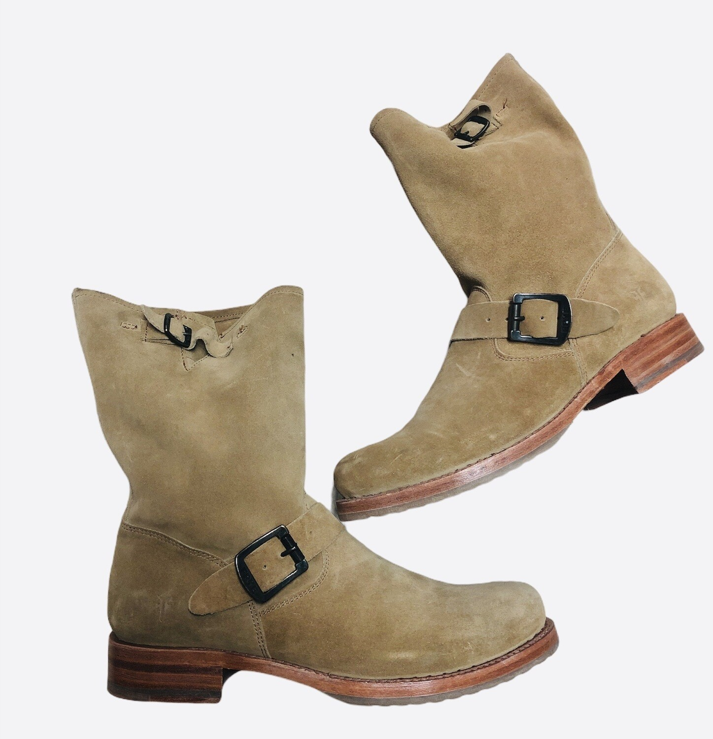 New FRYE Veronica Slouch Suede Boots size 9 1/2 B $298