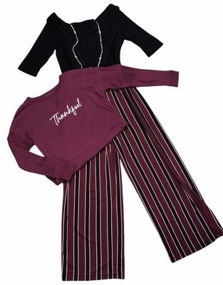 New EMMA & MICHELLE Stripe Pant Jumpsuit size Large