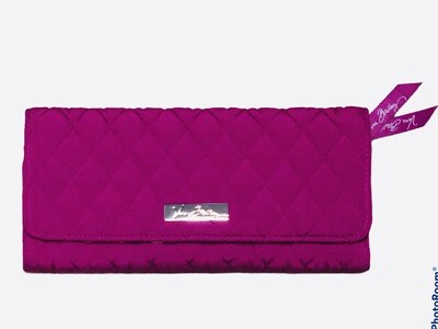 New VERA BRADLEY Fushia Quilted Long Wallet