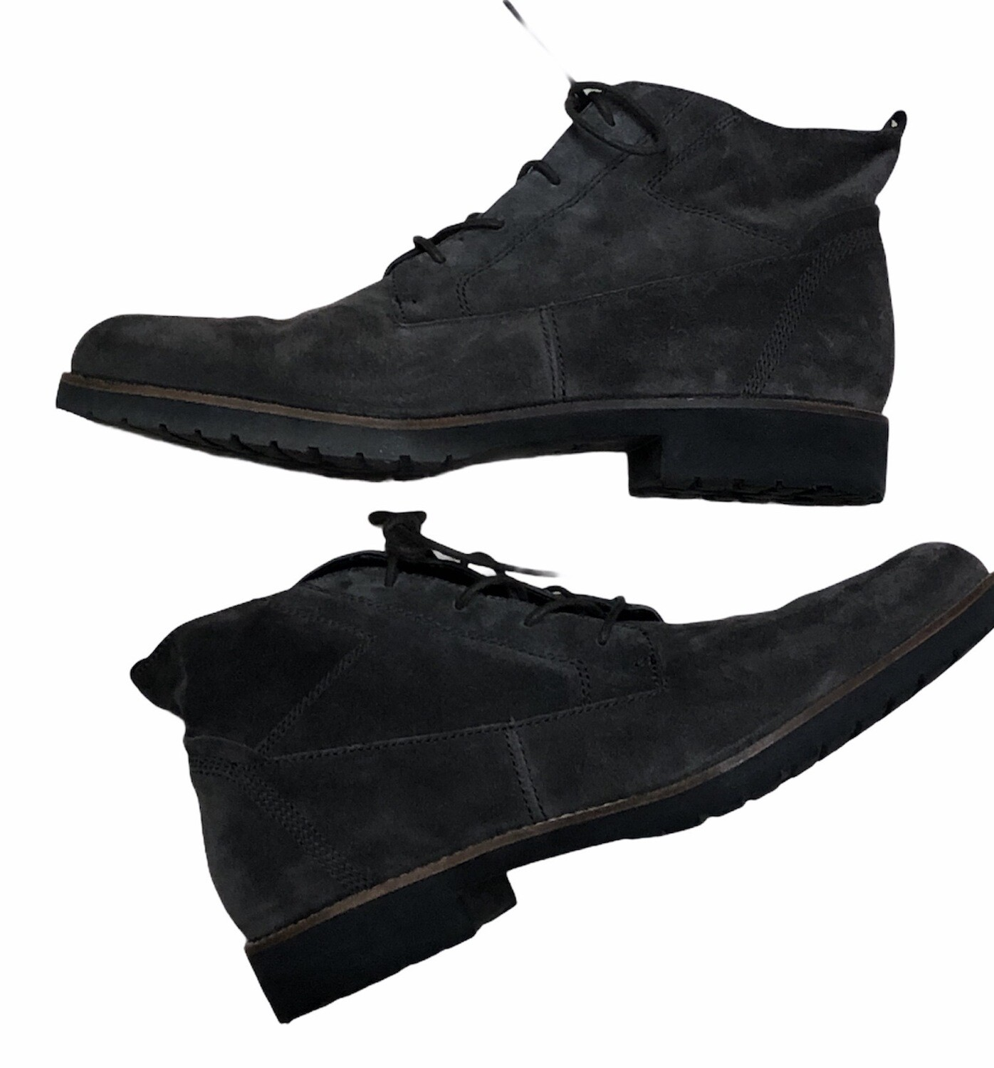 FRANCO SARTO Civic Grey Suede Chukka Lace-Up Boots size 10 $149