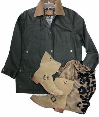 Ralph Lauren LAUREN Olive Green Sporting Coat size 1X