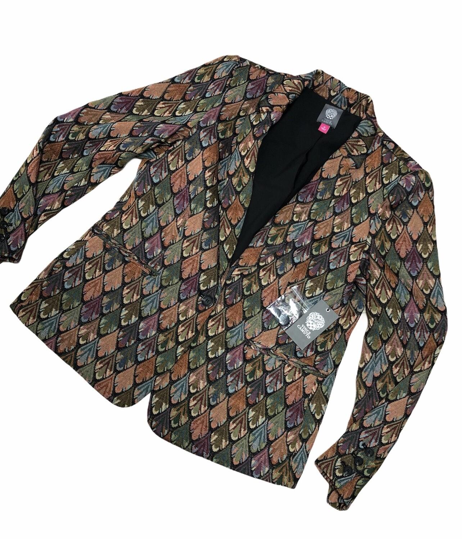 "New VINCE CAMUTO ""Estate Jewel"" Vintage Tapestry Blazer size 12 $149"