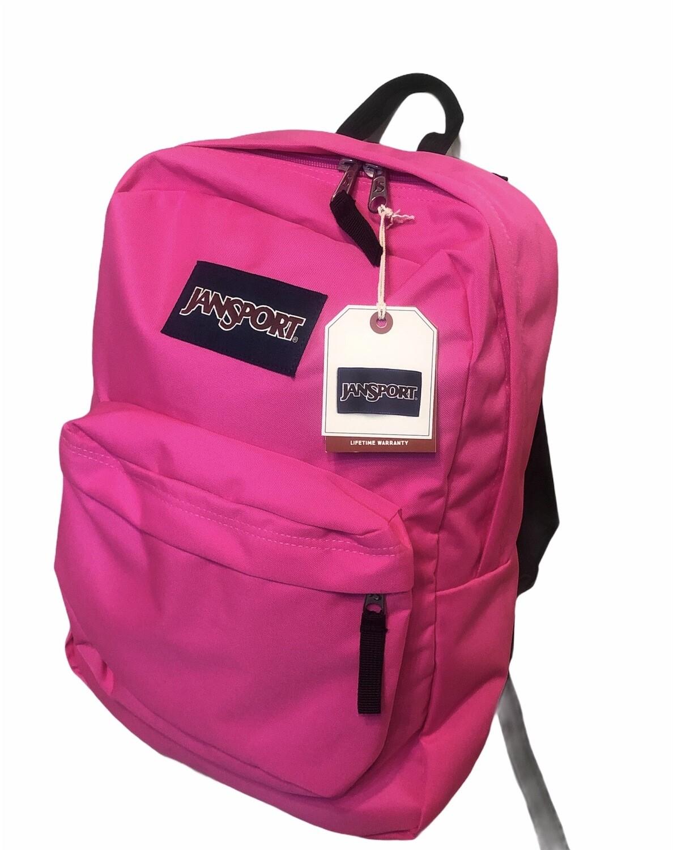"""New JANSPORT Backpack """"Superbreak"""" in Ultra Pink"""
