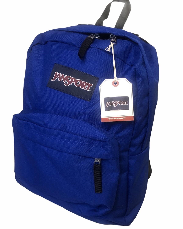 """New JANSPORT """"Superbreak"""" Back Pack in Regal Blue"""