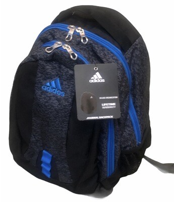 New ADIDAS Bright Blue & Black Journal Backpack