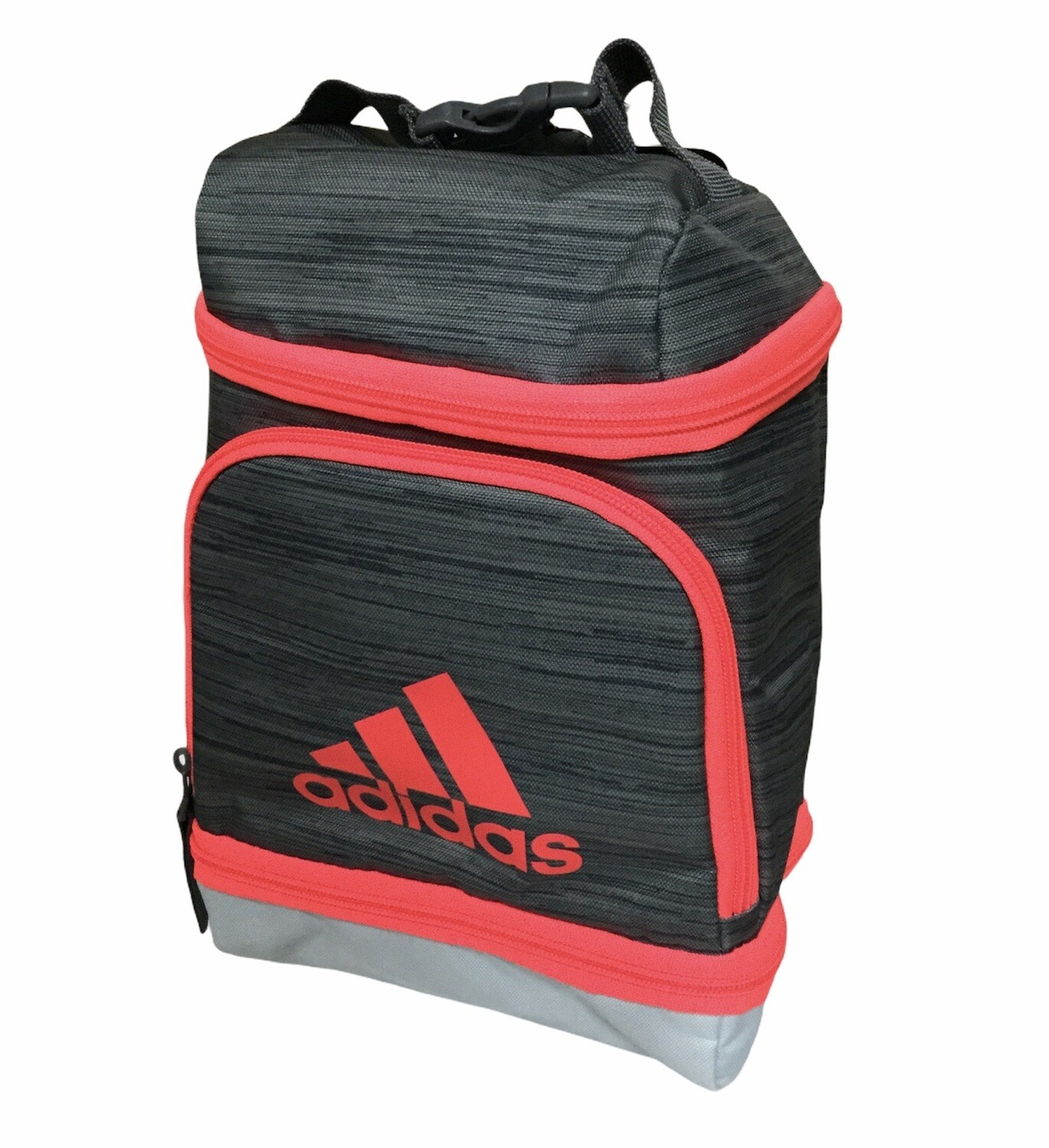 New ADIDAS Gray & Signal Pink Insulated Excel Lunch Bag
