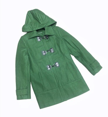 Calvin Klein Lime Green Wool Hooded Coat size 6