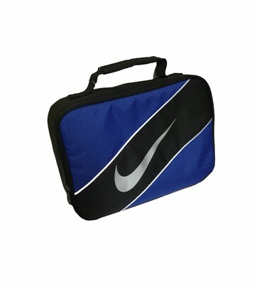 New NIKE Blue & Black Swoosh Insulated Lunch Bag