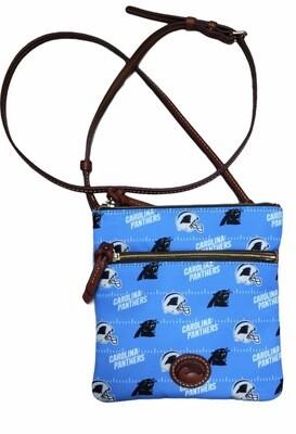 NEW DOONEY & BOURKE Carolina Panthers Double ZIP Crossbody $128 Retail