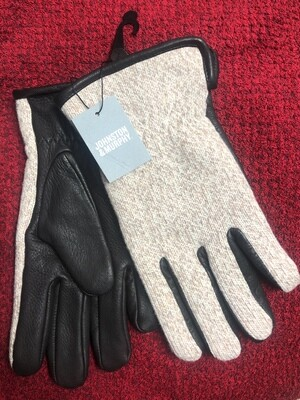 New Johnston & Murphy Leather and Wool Gloves $69.50