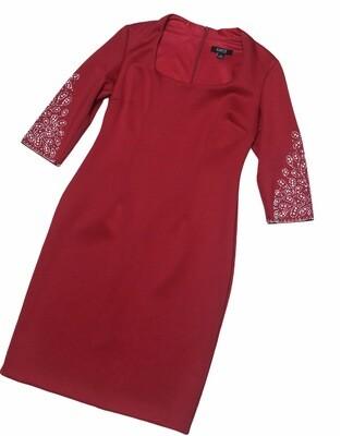 IGNITE EVENINGS Red Jewel Sleeve Dress size 14