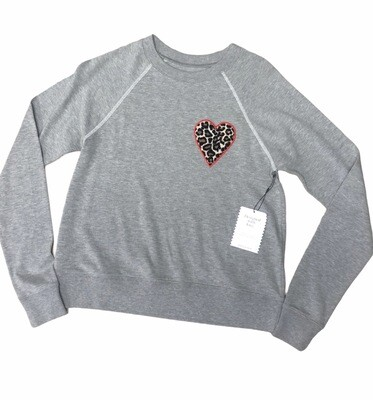 New STELLA & DOT Dress for Success Gray Heart Top size Small