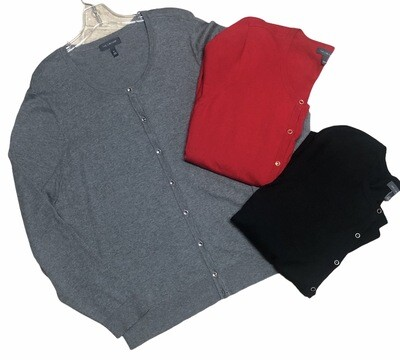 **3pc HOLIDAY BUNDLE** THE LIMITED Cardigan Sweaters Black-Gray-Red size 1X