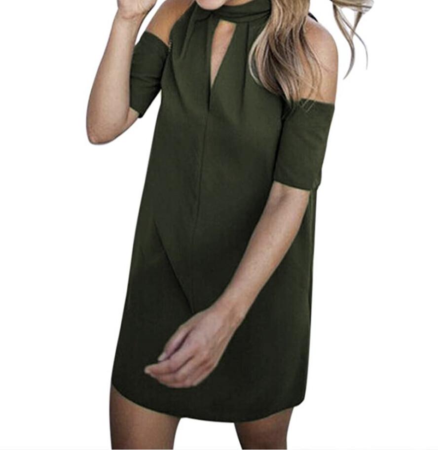"""TOP SHOP Olive """"Cold Shoulder"""" Mini Dress size 10"""