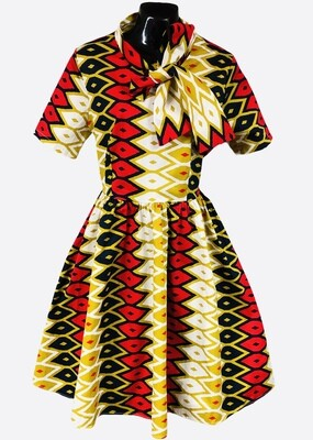 Ethnic Abstract Print Fit & Flair Dress size XL