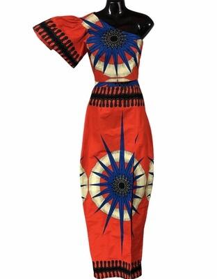 NEW 2pc FABROSANZ Top & Skirt Ethnic Ensemble Small