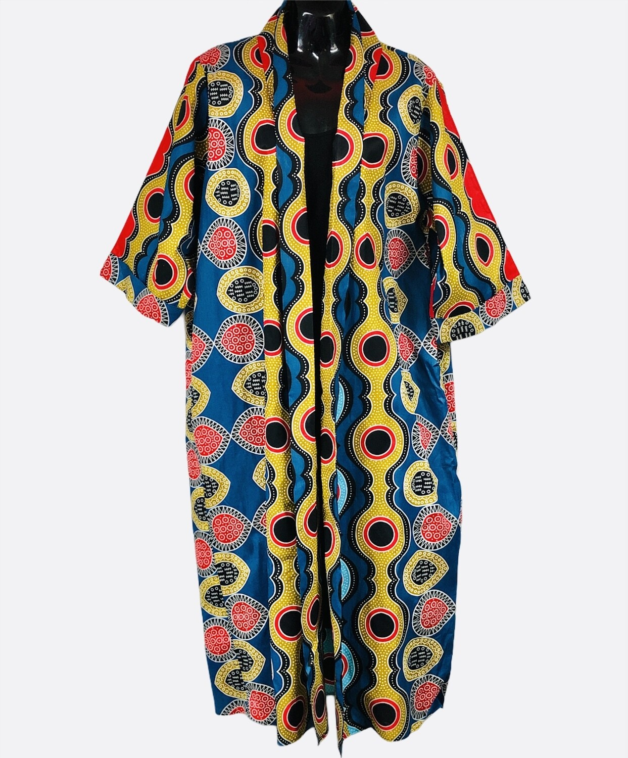 CHIC POSH Multi Color Long Abstract Print Jacket Large
