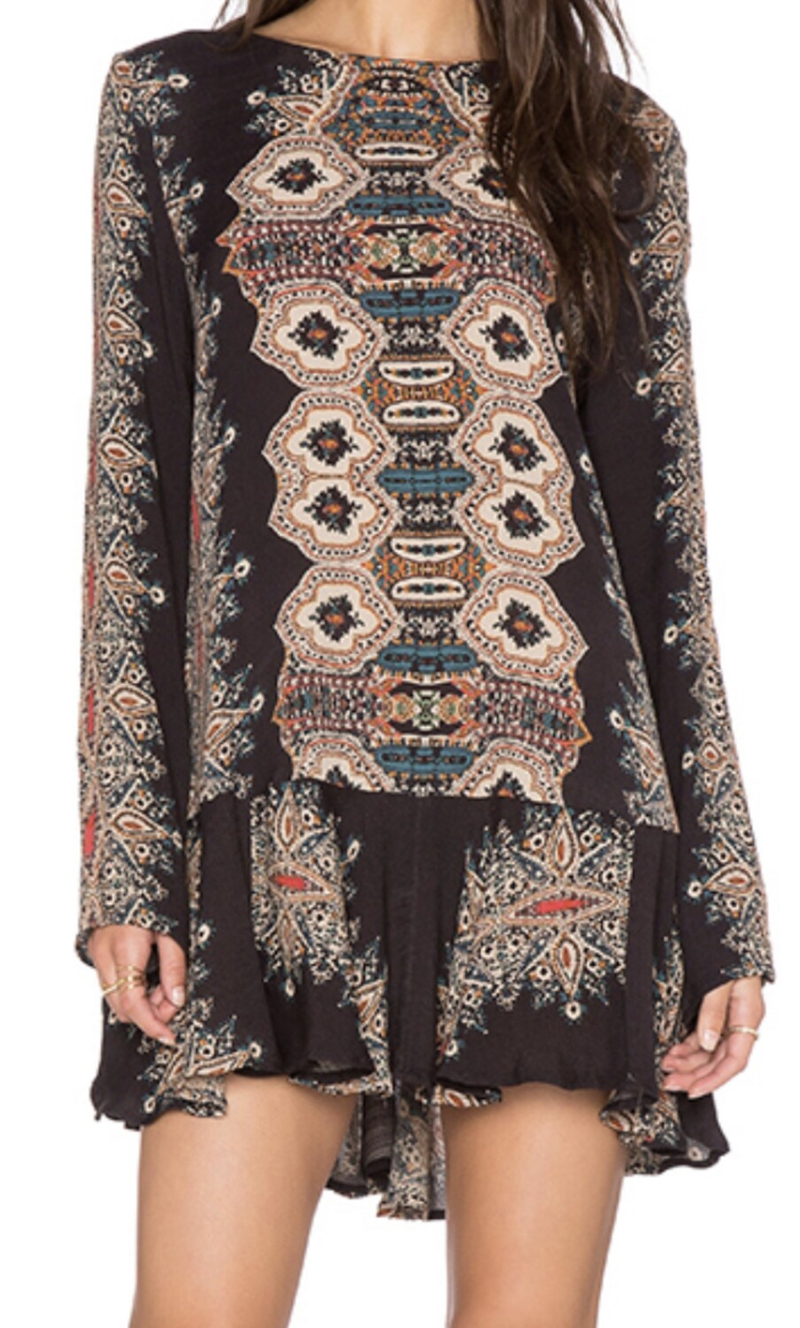 """FREE PEOPLE """"Smooth Talker"""" Backless Tunic with Pockets Large"""