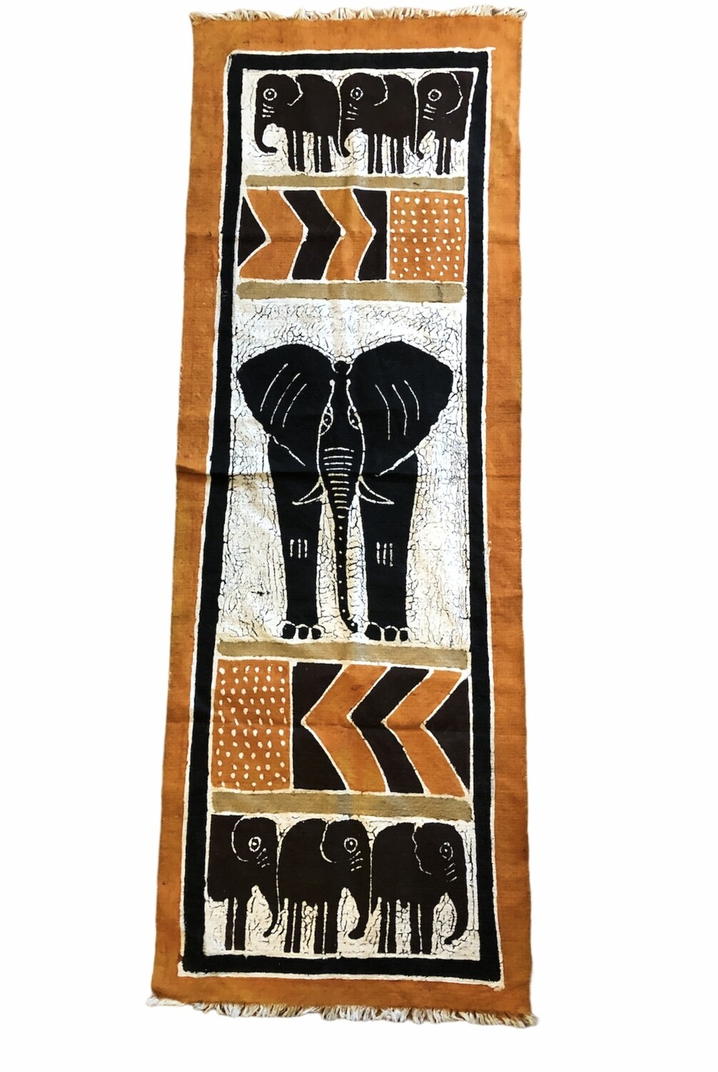 Handpainted Ethnic Elephant Motif Wall Hanging 20 x 57