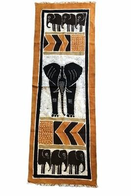 Handpainted Ethnic Elephant Motif Wall Hanging 20 x 57
