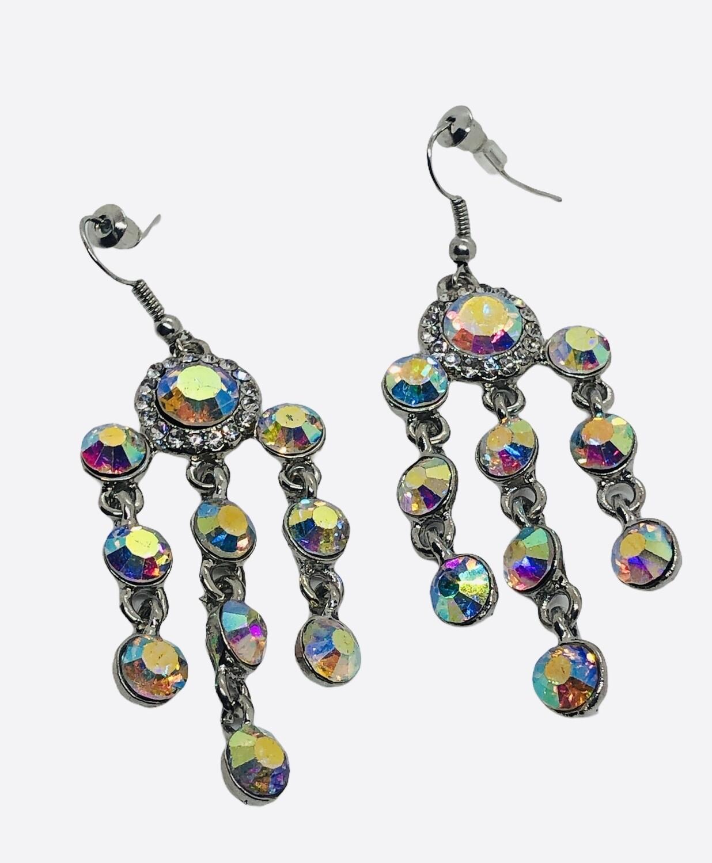 Rhinestone Crystal Long Chandelier Earrings