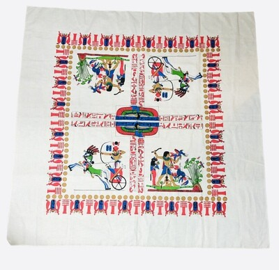 Ancient Egyptian Pictorial Fabric/Table Cloth 59 x 59