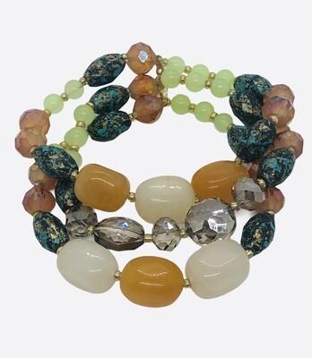 Multi-strand Glass Bead Bracelet