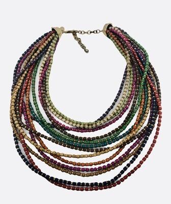 CHICOS Multi Color - Multi Strand Statement Necklace