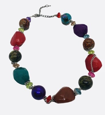 Multi-Color Chunky Statement Necklace