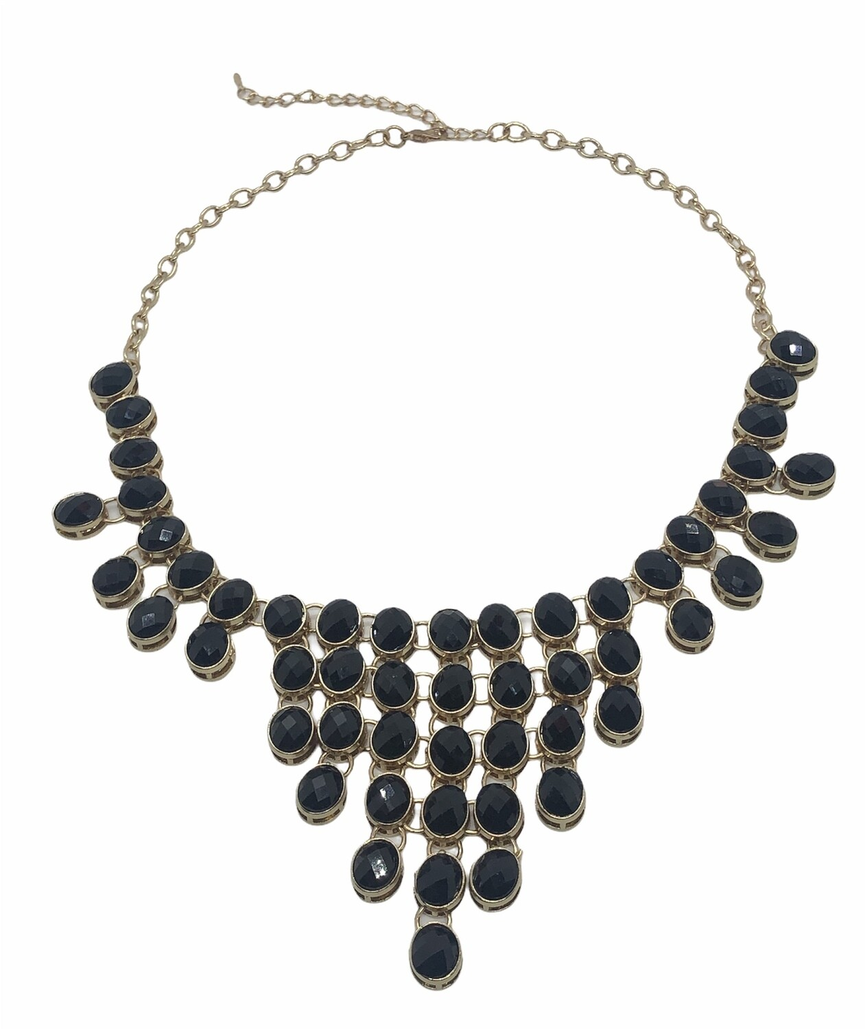Black & Gold Chandelier Necklace