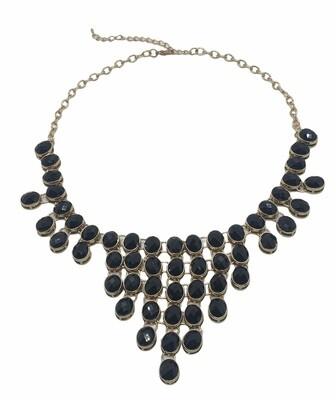 Black & Gold Chandelier Necklace