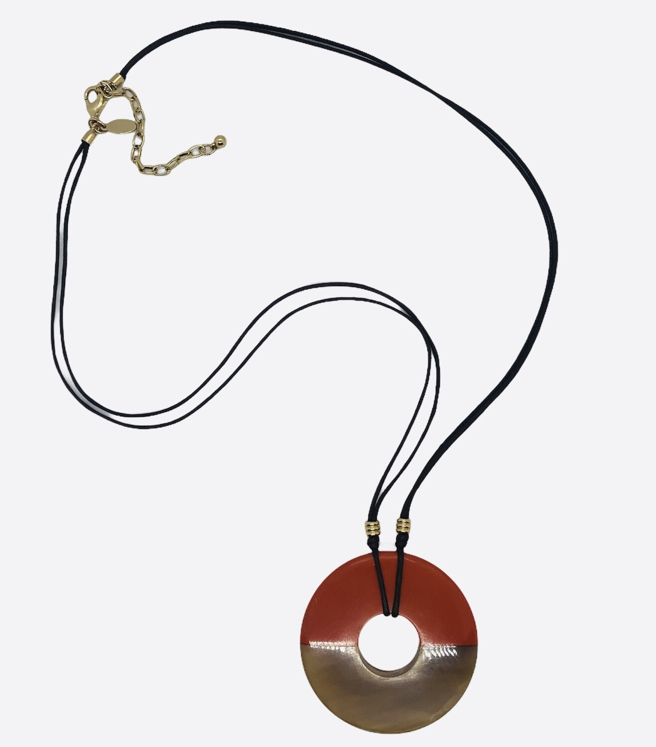 CHICOS Orange & Caramel String Necklace