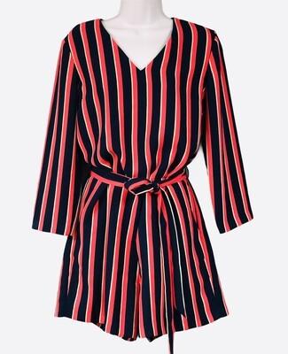 BANANA REPUBLIC Navy Stripe Short Jumpsuit size 8