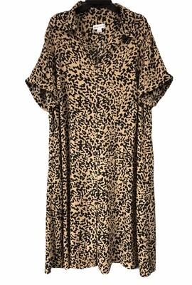 AVA VIV Animal Print Button Front Dress size 2X