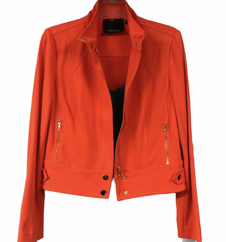 CARLISLE Orange Fitted Jacket size 6