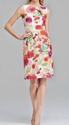 KATE SPADE Watercolor Floral Bowden Dress size 10