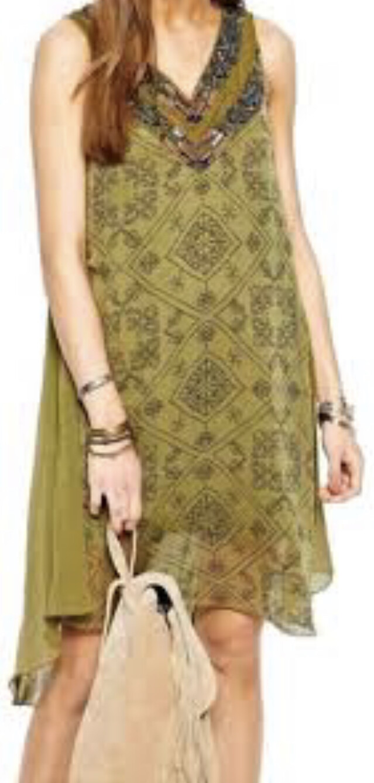 FREE PEOPLE Ancient Mystery Shift Dress size Medium $168