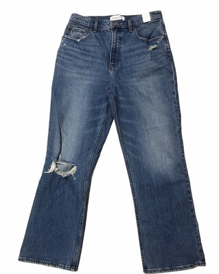 New ABERCROMBIE & FITCH Ultra High Rise Kick Flare Jeans 10 L  $99