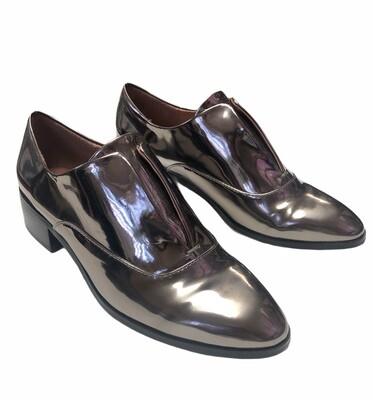 BCBG Pewter Metallic Slip On Loafers size 7 1/2