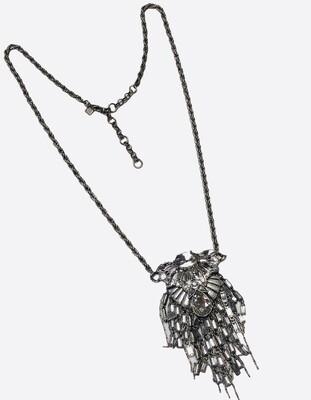 BANANA REPUBLIC Rhinestone Baguette Long Necklace
