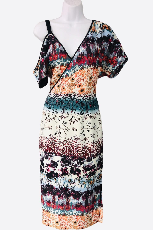 RACHEL ROY Floral Mosaic One Arm Dress size 6