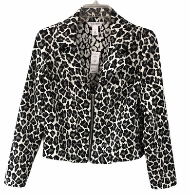 New WHITE HOUSE BLACK MARKET Animal Print Jacket $99