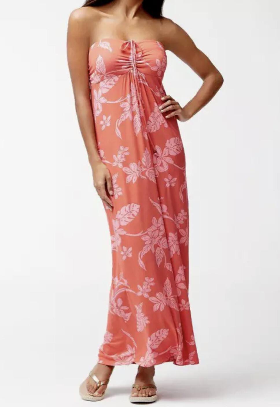New TOMMY BAHAMA Hibiscus Hiatus Maxi Dress Medium $165