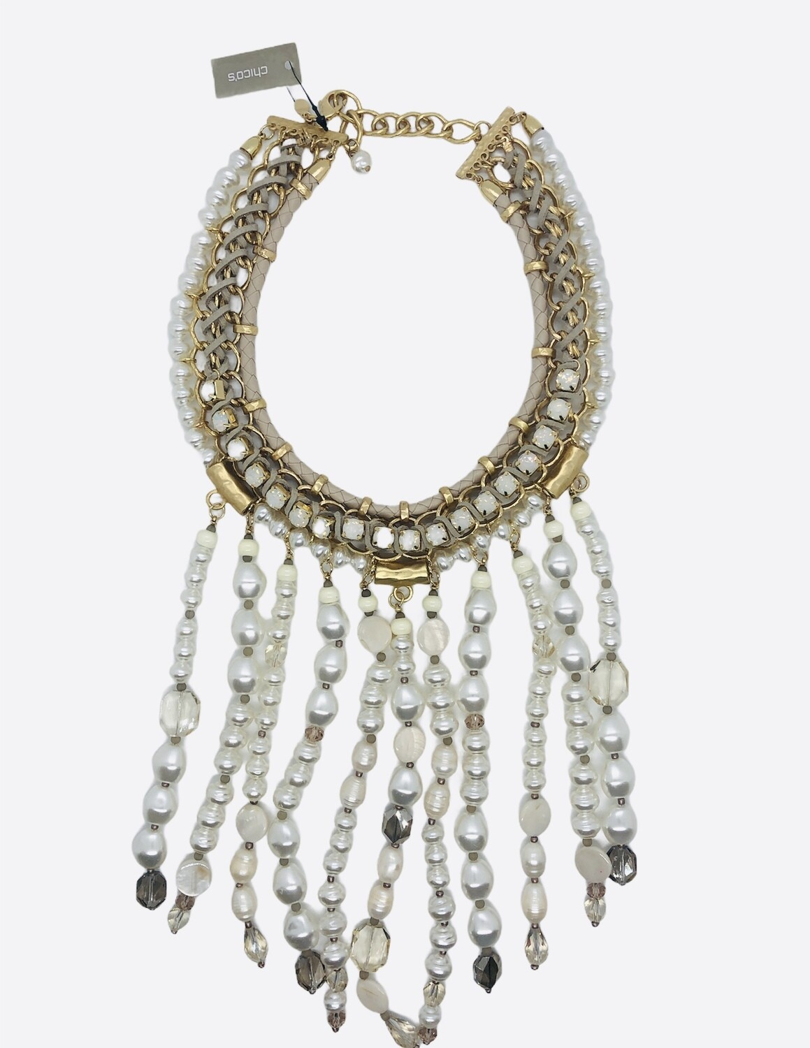 New CHICOS Collection WAKIKI Pearl  Statement Necklace $179