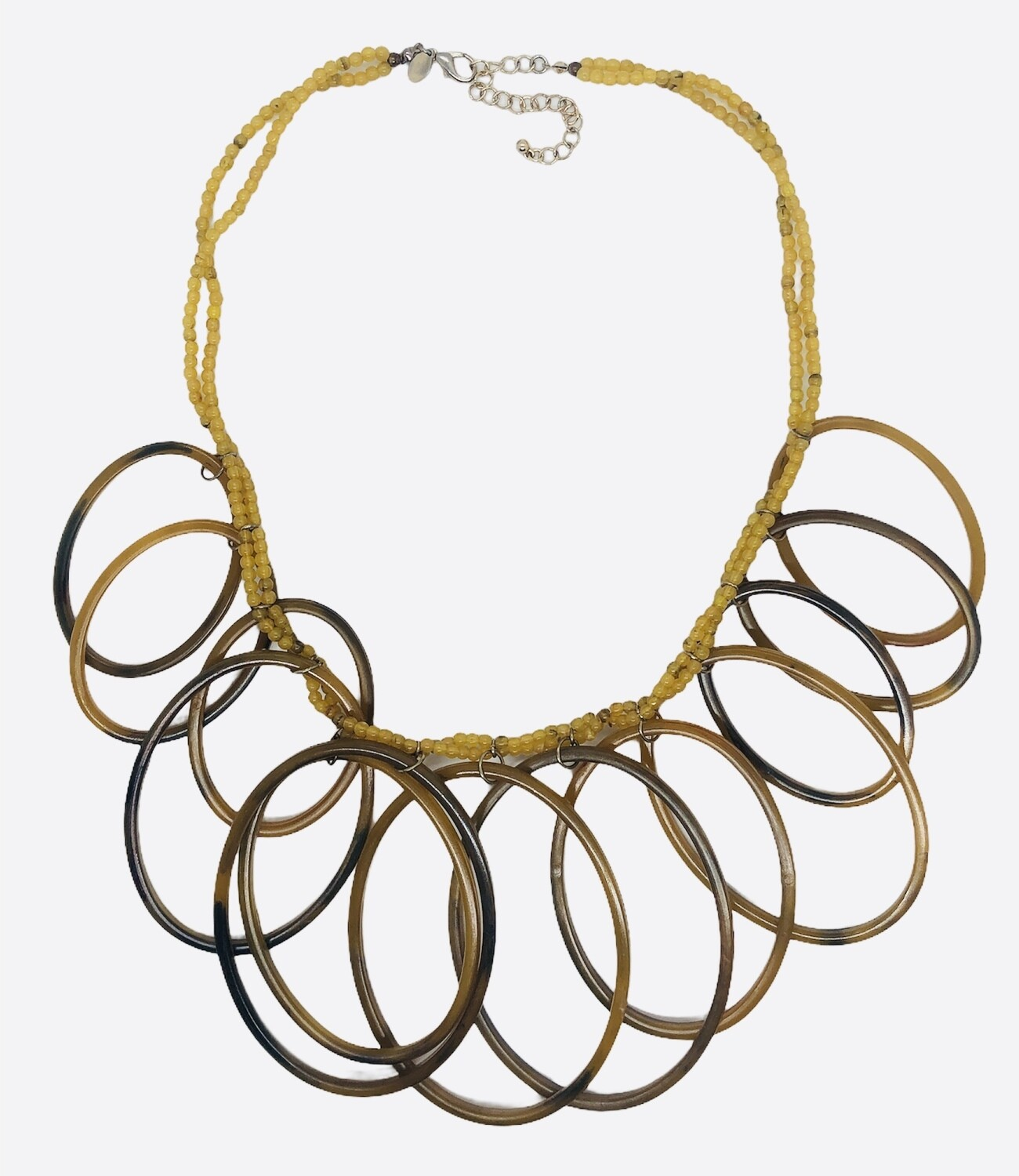 CHICOS Resin Large Ring & Bead Statement Necklace