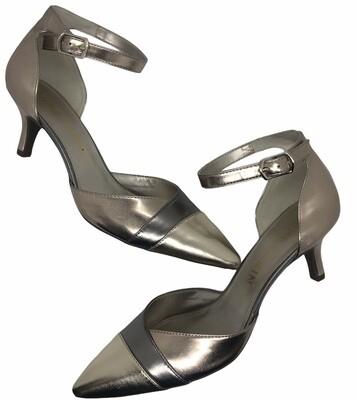 """ANNE KLEIN """"Fritsie"""" Metallic Kitten Heel Pumps size 10"""