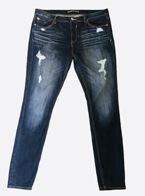 EXPRESS Legging Mid Rise Distressed Denim Jeans size 12