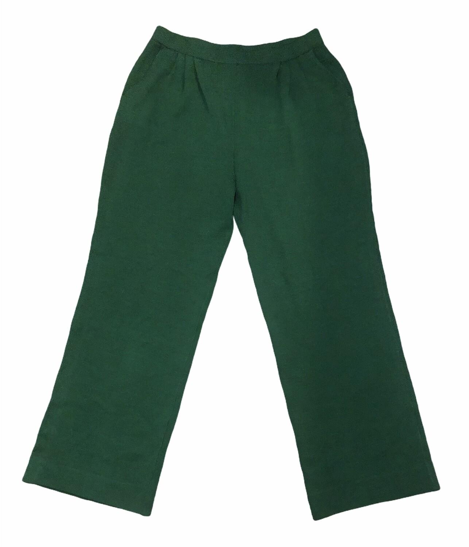 ST. JOHN COLLECTION Green Santana Knit Pants size 12