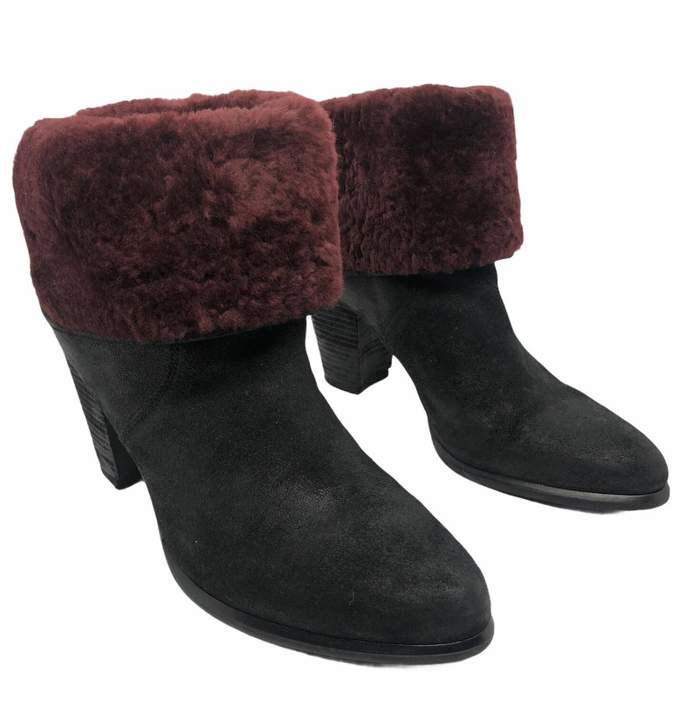"New w/ Box UGG ""Layna"" Genuine Shearling Cuff Boot size 12"