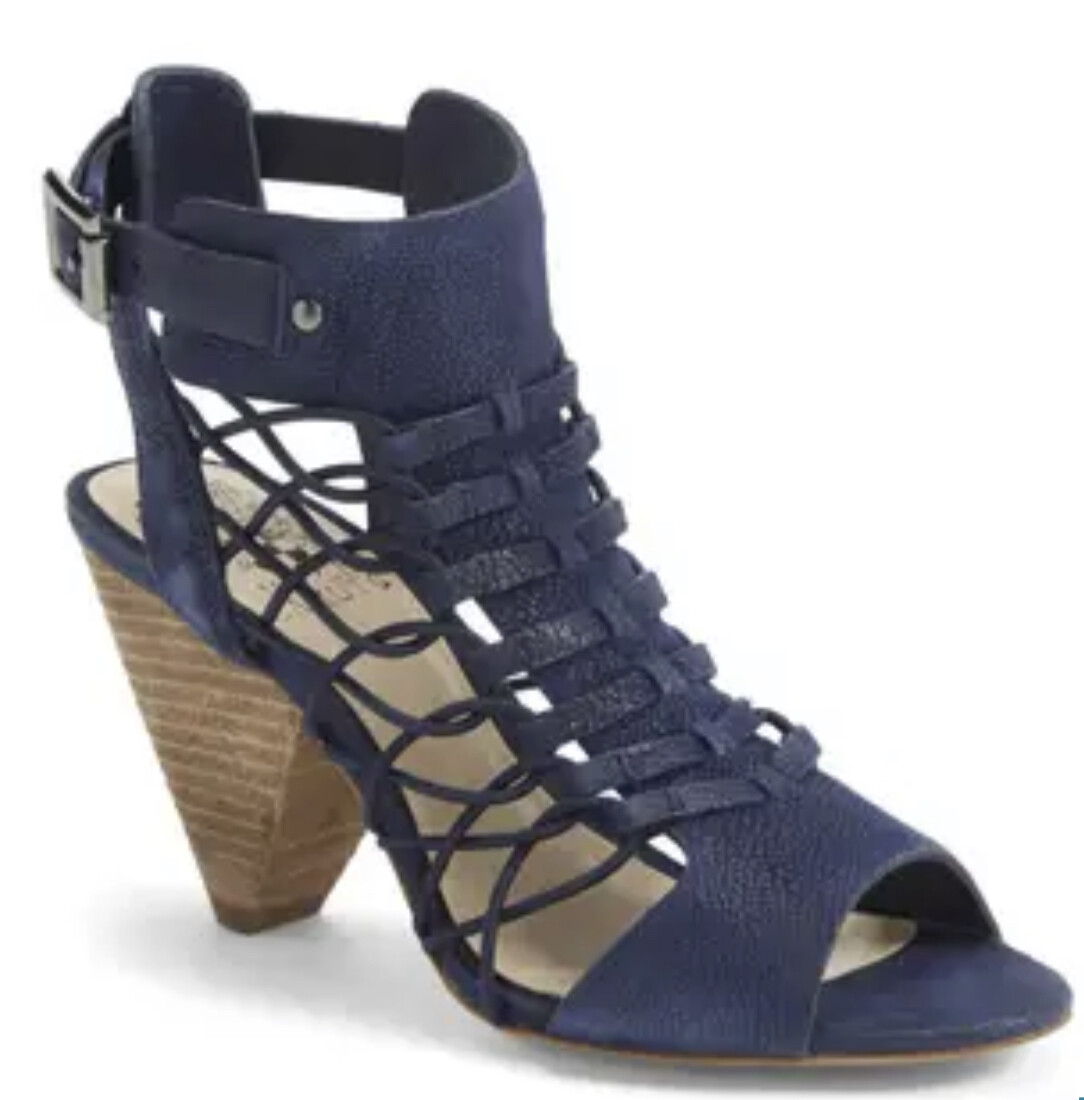 """New VINCE CAMUTO """"Evel"""" Leather Cage Heel Sandals size 11"""